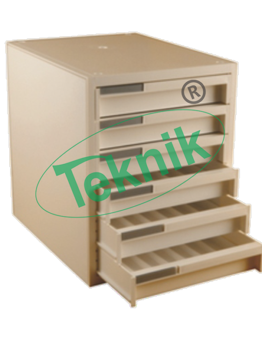 Microtomes : Tissue wax block storage cabinet