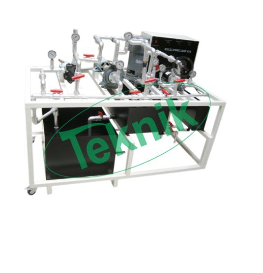 Mechanical-Engineering-Fluid-Mechnics-equipment-Computer-Multi-Pump-Test-Rig