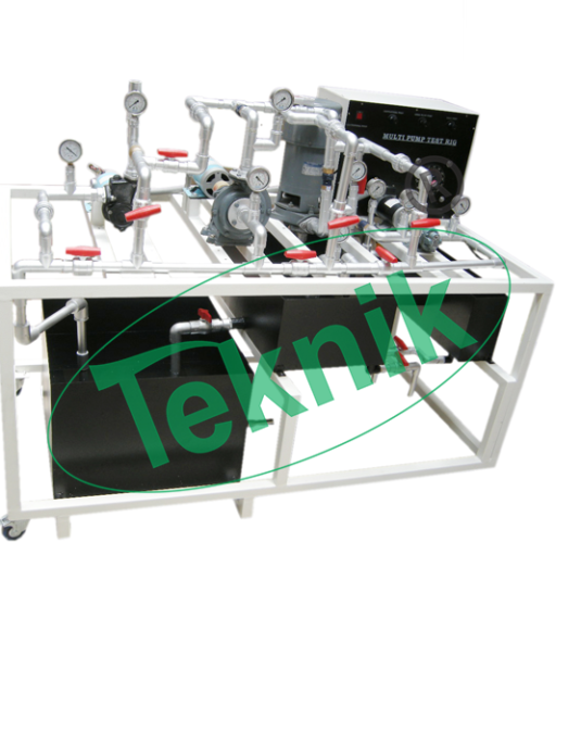 Mechanical-Engineering-Fluid-Mechnics-equipment-Computer-Multi-Pump-Test-Rig