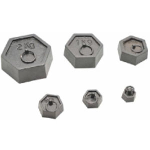 Cast Iron Hexagonal Masses Set
